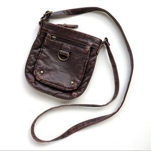 Brown Leather Crossbody bag